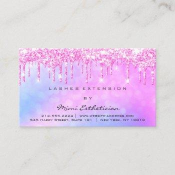 aftercare instructions lash pink glitter  drips business card