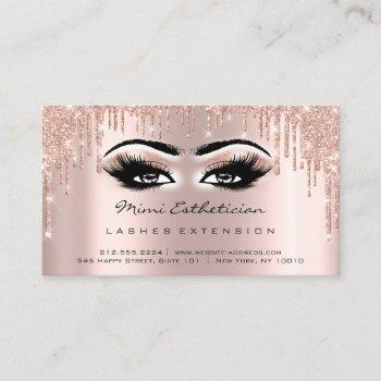 aftercare instructions lash rose gold drips eyes business card