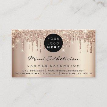 aftercare instructions lash rose gold drips logo business card