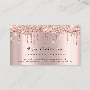 aftercare instructions lash rose gold drips vip business card