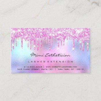 aftercare instructions lash rose pink drips business card