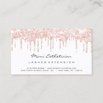 aftercare instructions lash rose white drips vip business card