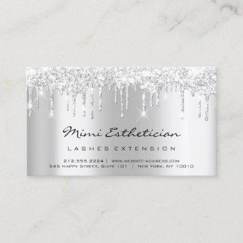 aftercare instructions lash silver gray drips pink business card