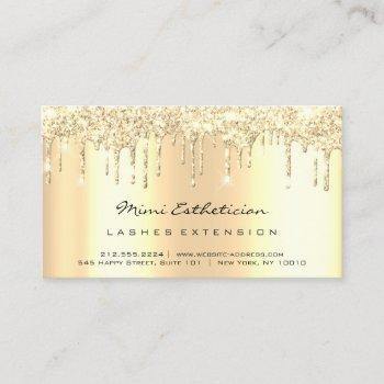 aftercare instructions lash soft gold drips glitte business card