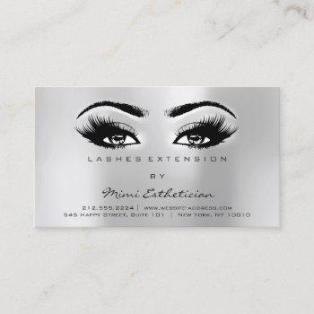 aftercare instructions lashes extension gray business card