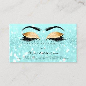 aftercare instructions lashes ocean blue gold business card