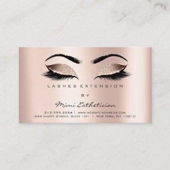 aftercare instructions lashes rose gold business card