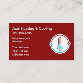 air conditioning & heating service business card