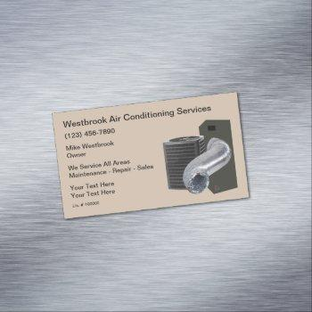 air conditioning repair and duct cleaning business card magnet