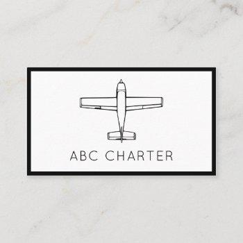 airplane aviation business card