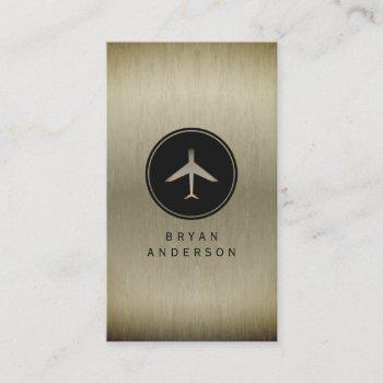 airplane logo business card