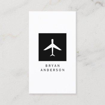 airplane logo business card