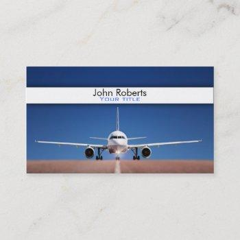 airplane pilot business card