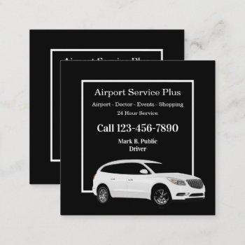 airport taxi double side suv business cards