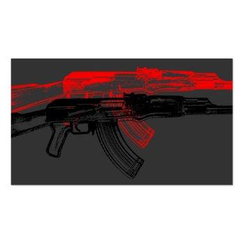 Small Ak 47 Business Card Back View