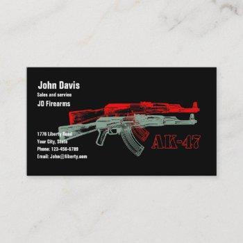 ak 47 business card