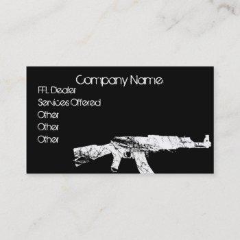 ak 47 ffl dealer business card