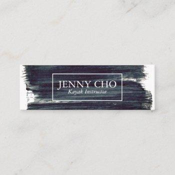 almost black paint stripe hand painted mini business card