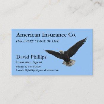 american bald eagle patriotic business card