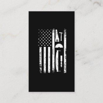american flag carpenter tools woodworker craftsman business card