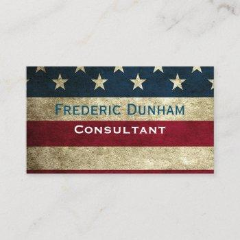 american flag rustic vintage style business cards