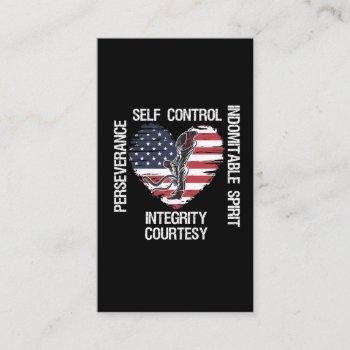 american flag taekwondo self defense fighter business card