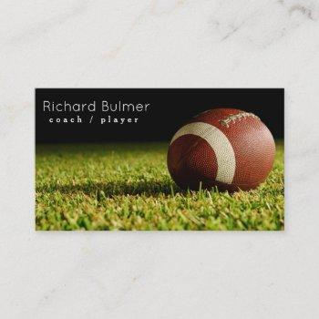 american football coach or player business card