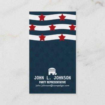american politics business card