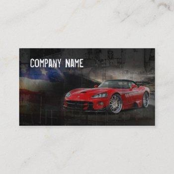 american red sport car business card