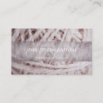 amigurumi yarn knitting crochet business card