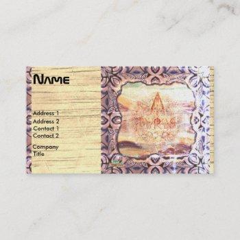 ancient future unusual design business card