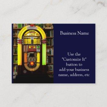 antique jukebox business card