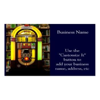 Small Antique Jukebox Business Card Front View