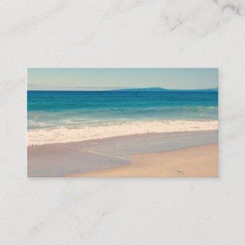 aqua beach scene business card