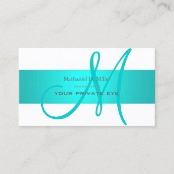 aqua blue/diy background color business card