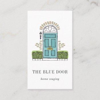 aqua door | home staging or interior design business card