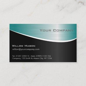 aqua stainless steel, professional business card