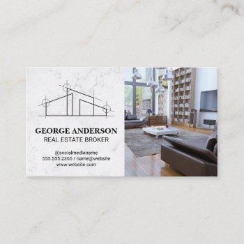 architect house logo | home interior business card