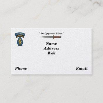 army special forces green berets sf sfg sof vets business card