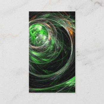 around the world green abstract art business card