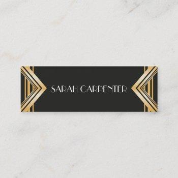 art deco - 20s business card - faux gold frame