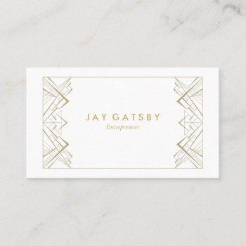 art deco/art nouveau business card