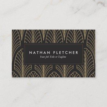 art deco business cards