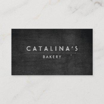 art deco on black wood professional business card