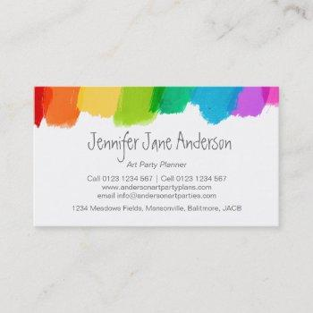 art party events planning business cards
