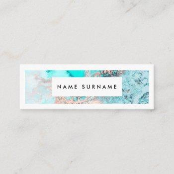artist marble gold watercolor mini business card