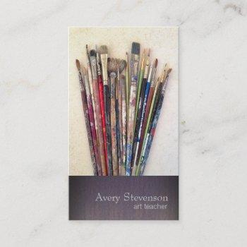 artist paint brushes painter business card