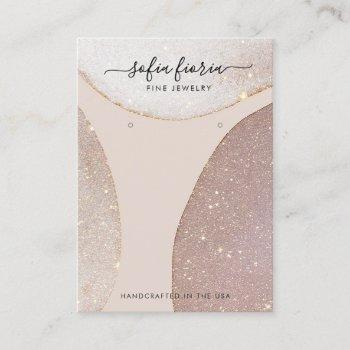 artistic glitter jewelry earring display card