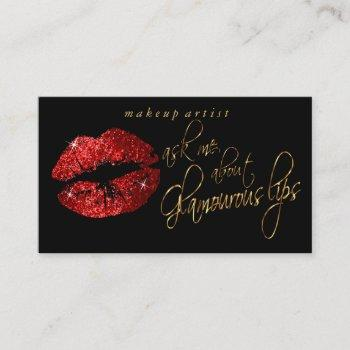 ask me about my glamorous red lips business card