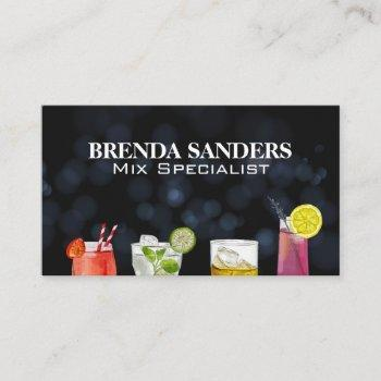 assorted mixed drinks  business card